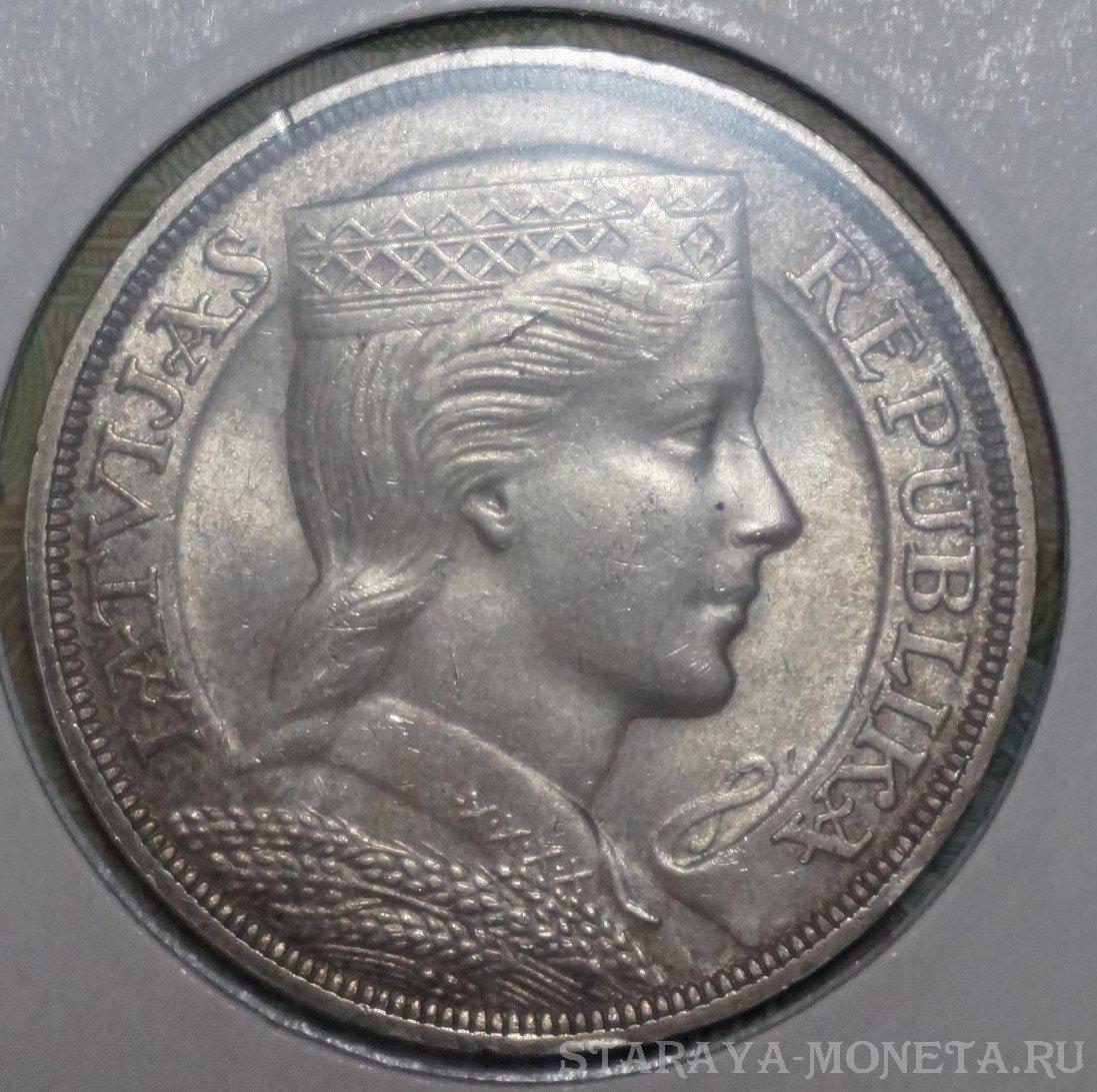1931 латвия 5 лат серебро