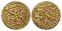 Хивинское ханство, 1/2 тилли 1851 г., хан Мухаммад Амин (1845–1855), золото