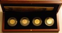 """""""4 червонца"""". Юбилейный набор золотых монет, посвященный 100-летию отмены золотого стандарта в России 1897-1914 гг."""
