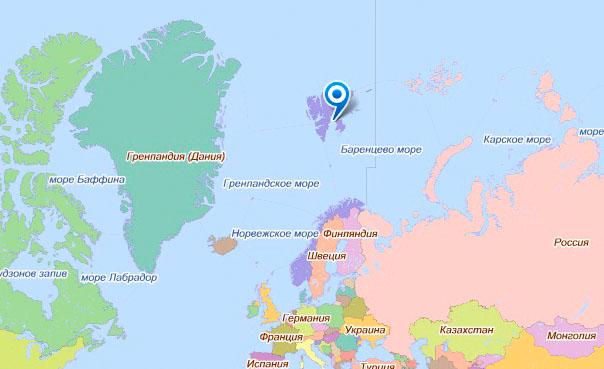 Картинки по запросу Шпицберген на карте
